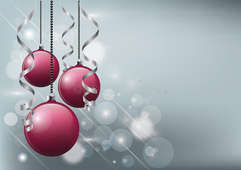 Vector a ilustração do Natal - quinquilharias mágicas do fundo, do inseto ou do vermelho do convite ilustração stock