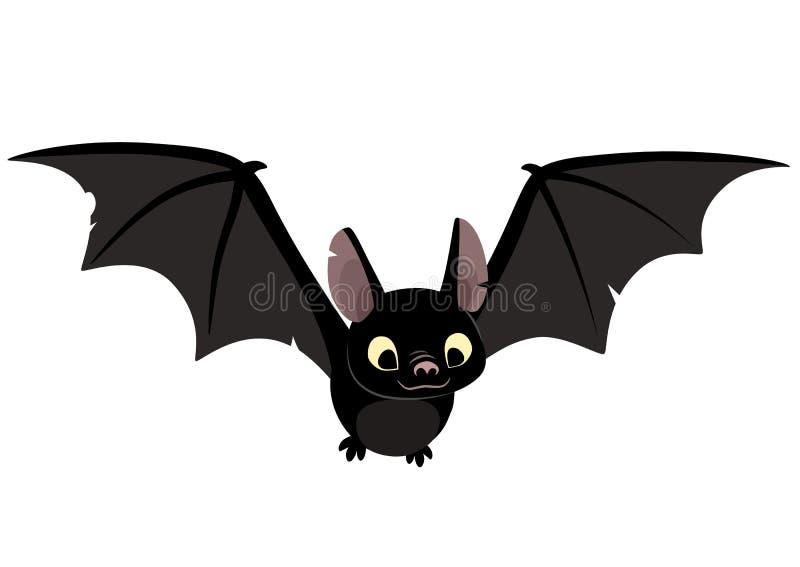 Vector a ilustração dos desenhos animados do caráter preto amigável bonito do bastão ilustração royalty free