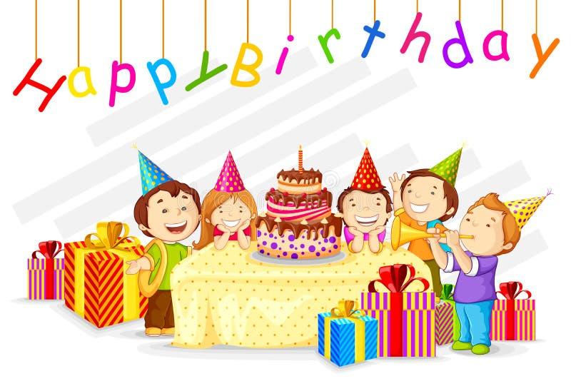 Celebração do aniversário ilustração stock