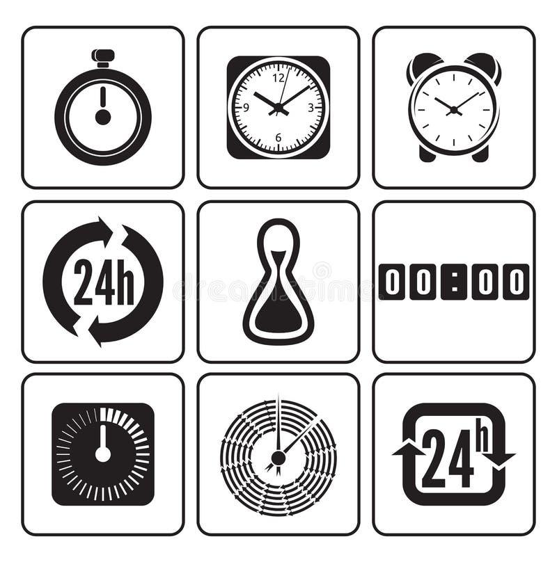 Download Pulsos De Disparo, ícones Do Tempo Ajustados Ilustração do Vetor - Ilustração de clock, quadro: 29831882