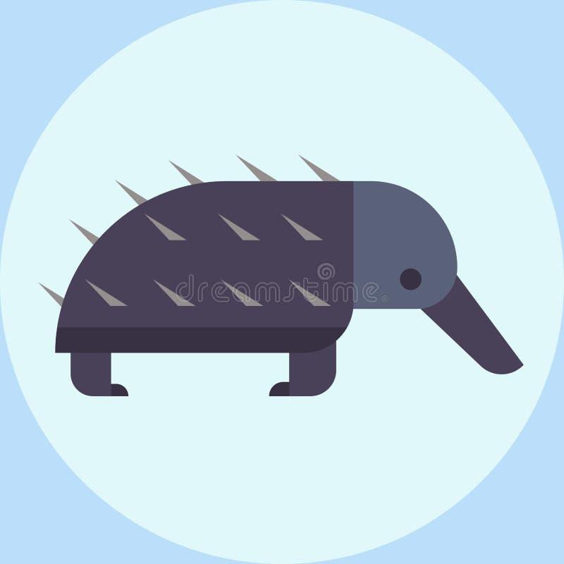 Vector a ilustração eriçando-se do porco- dos animais selvagens para o ouriço bonito da cerda do jardim zoológico do roedor das c ilustração do vetor