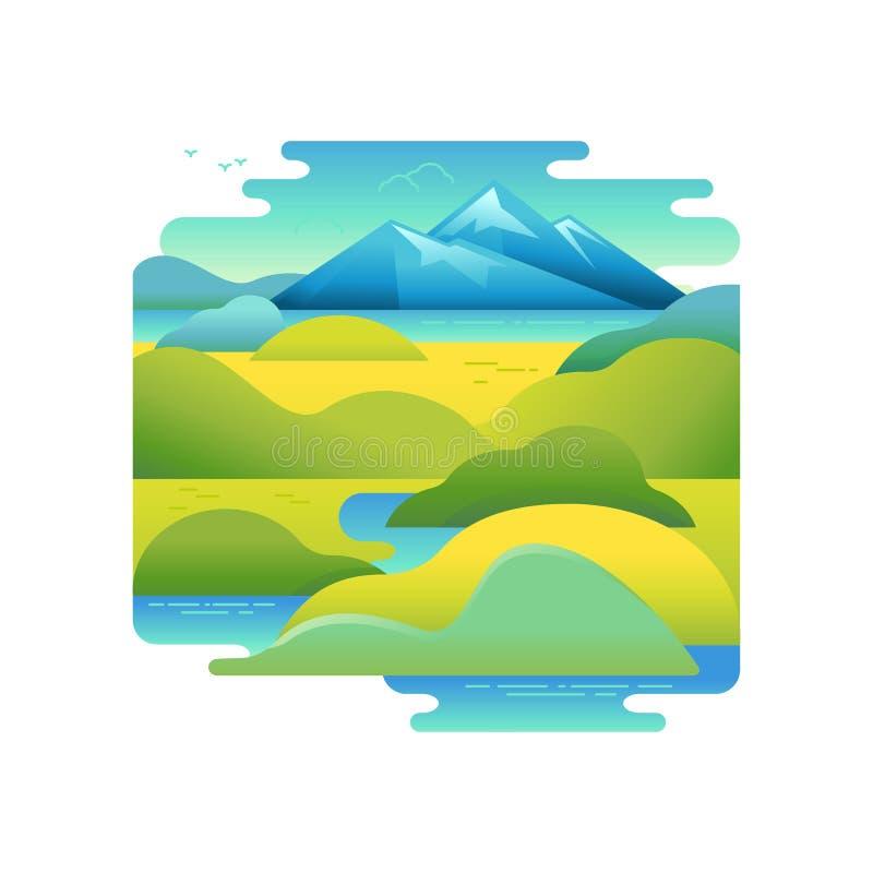 Vector a ilustração no estilo liso e linear na moda ilustração do vetor