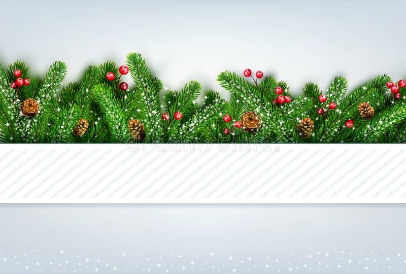 vector a ilustração pelo Feliz Natal e o ano novo feliz Gre ilustração do vetor
