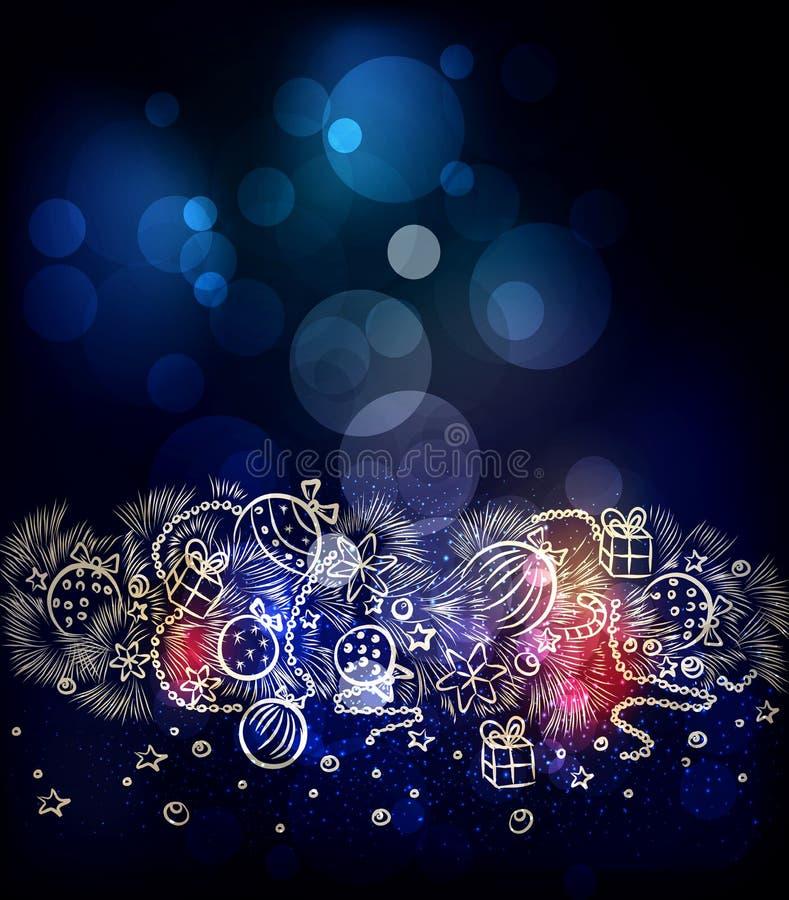 vector a ilustração pelo Feliz Natal e o ano novo feliz Tem ilustração royalty free