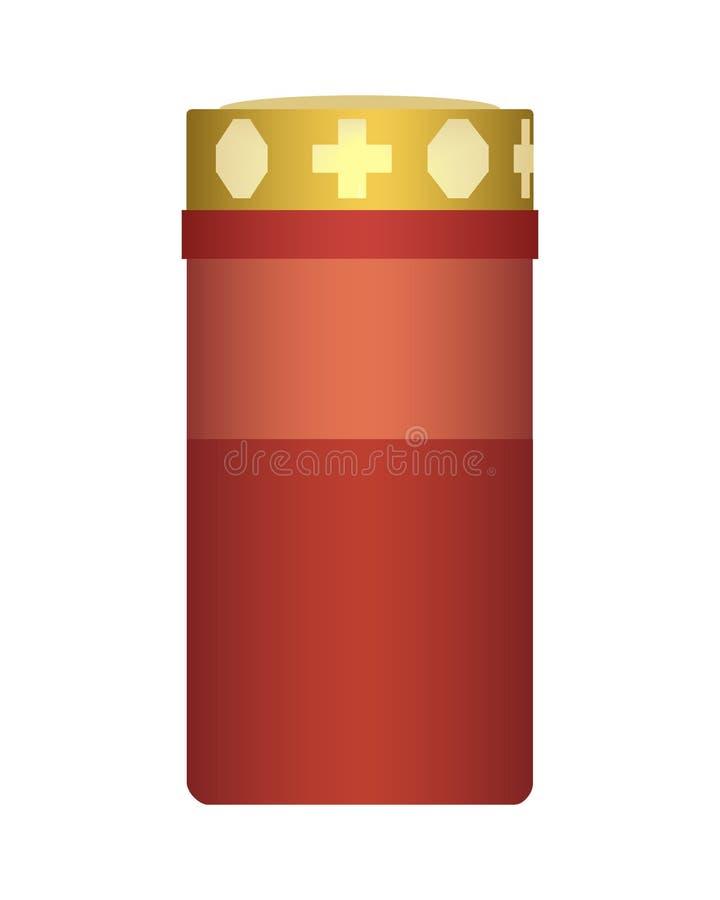 Vector a ilustração realística de uma vela ardente apropriada para t ilustração stock