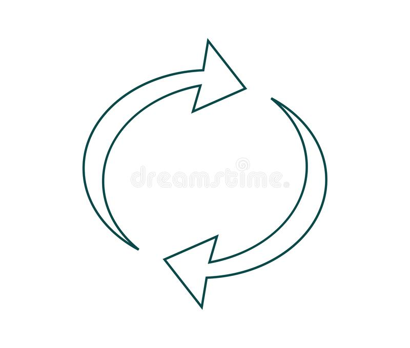 Vector a ilustra??o de recicl o s?mbolo ilustração stock