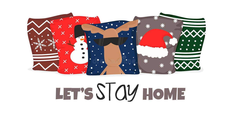 Vector Ilustracja zimowego hygge Cozy Lifestyle ilustracja wektor