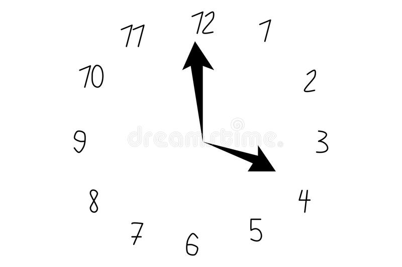 Vector ilustration of watch royalty free illustration