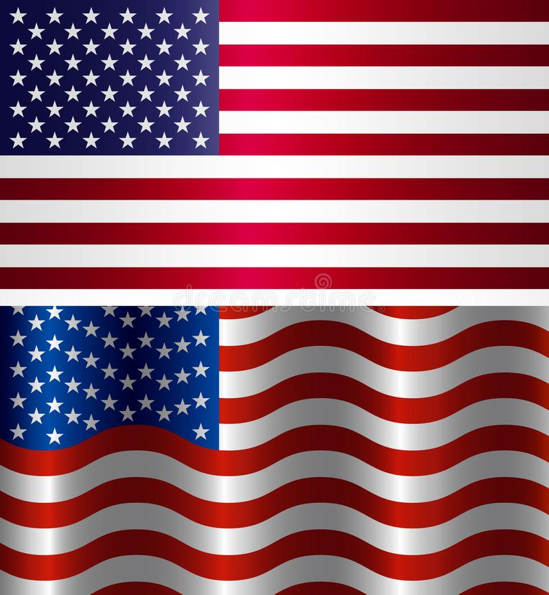 Image Of American Flag Symbol Usa On A White Background Stock