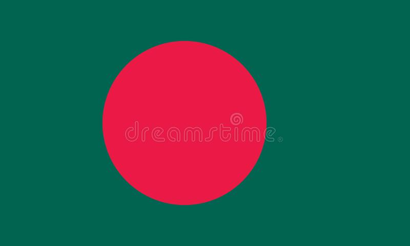 Vector image for Bangladesh flag. Based on the official and exact Bangladeshi flag. Dimensions 5:3 & colors 336C and 192C vector illustration