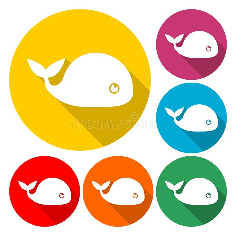 Vector image of a big whale - Illustration. Vector icon royalty free illustration