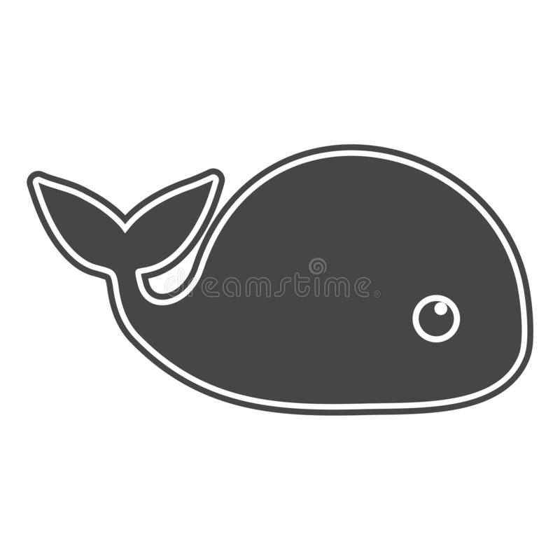 Vector image of a big whale - Illustration. Vector icon vector illustration