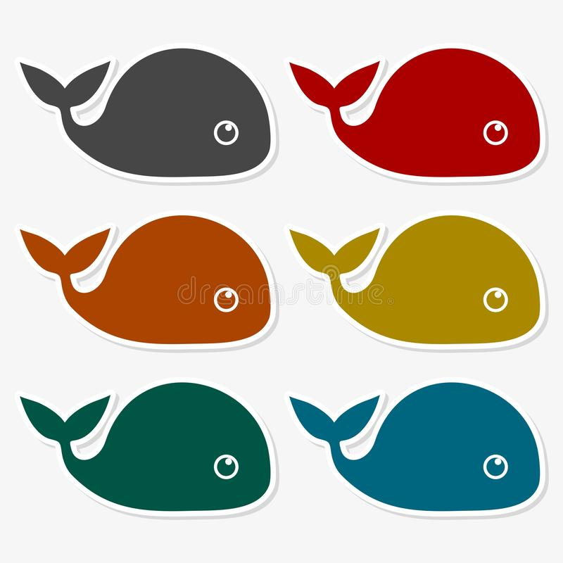 Vector image of a big whale - Illustration. Vector icon stock illustration