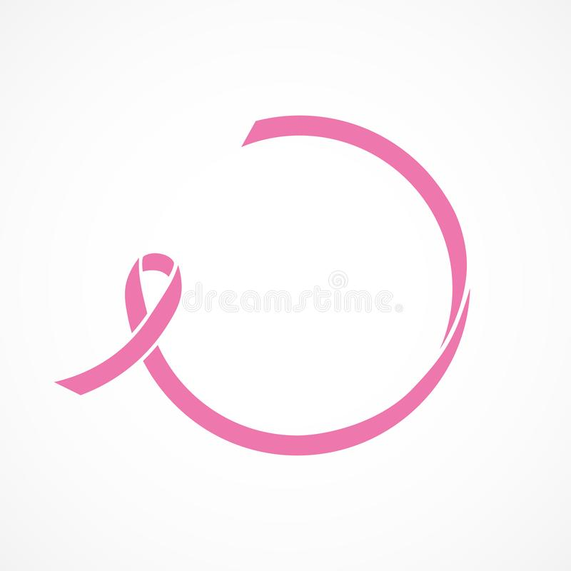 Vector image of breast cancer awareness ribbon.Pink ribbon. Vector image breast cancer awareness ribbon.Pink ribbon vector illustration