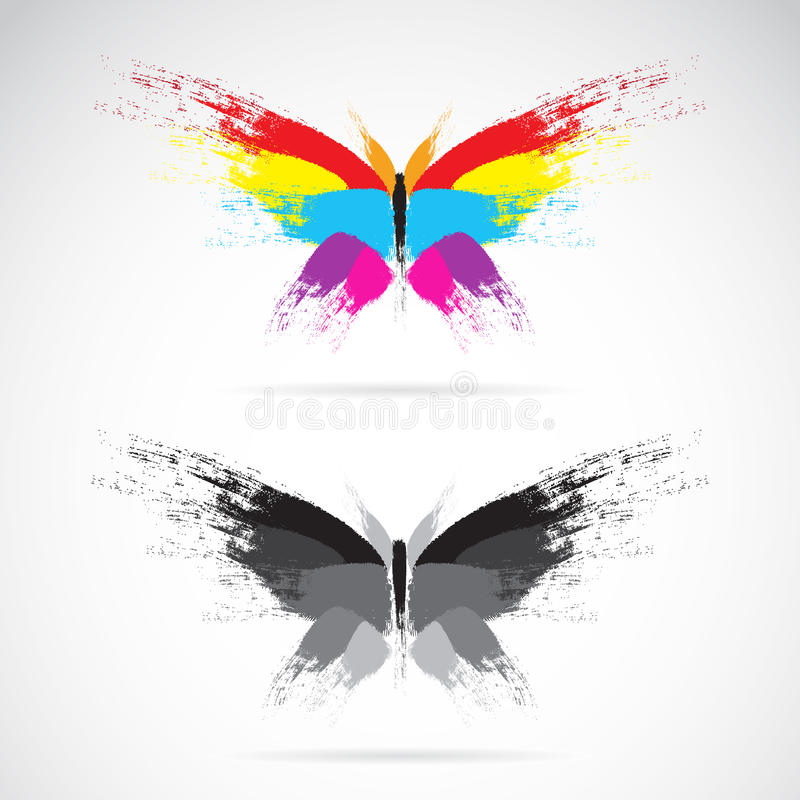 Vector image of butterfly royalty free illustration