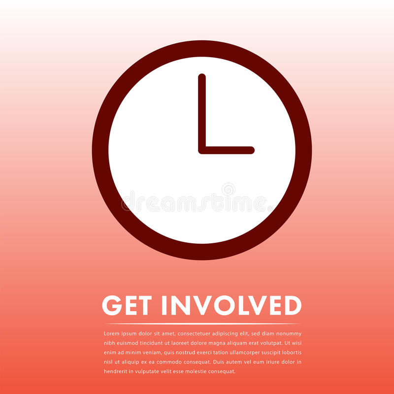 Vector image of call to action with text get involved vector illustration