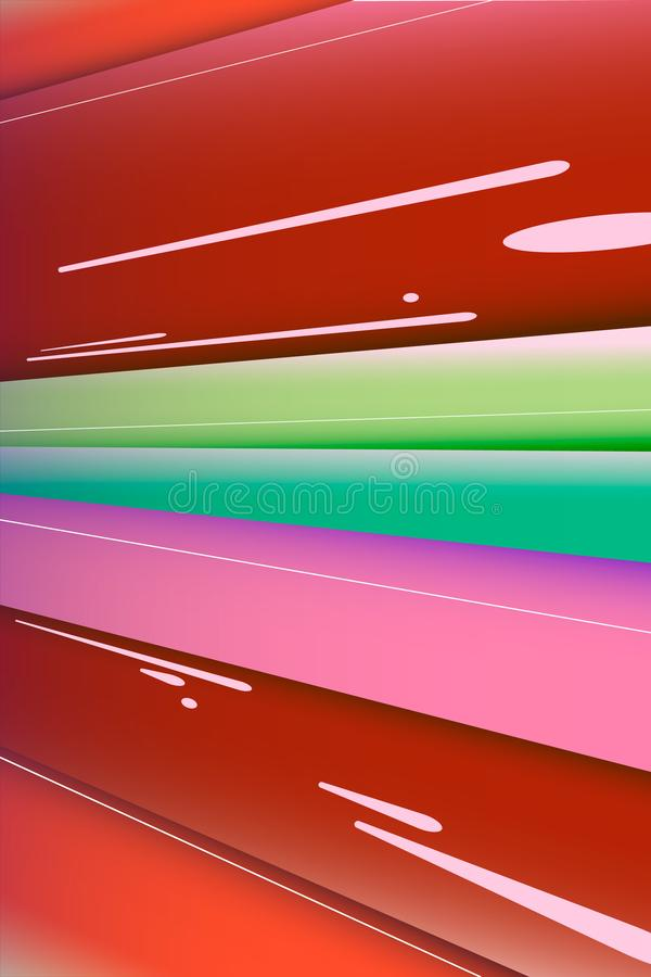 Vector image of a concept of fast forward movement. Modern pink, pastel shades. stock photography