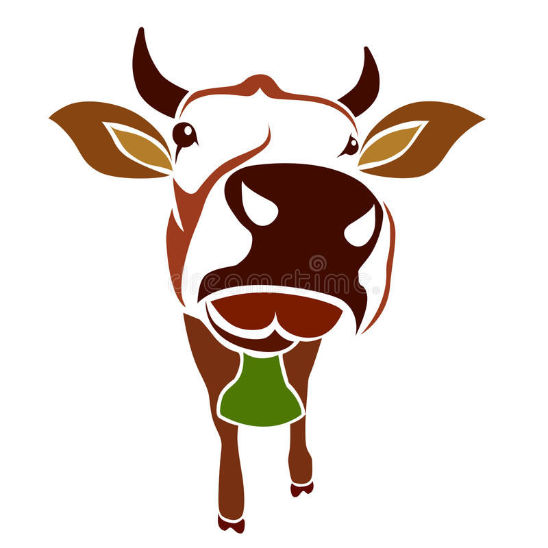 Vector image of an cow stock illustration