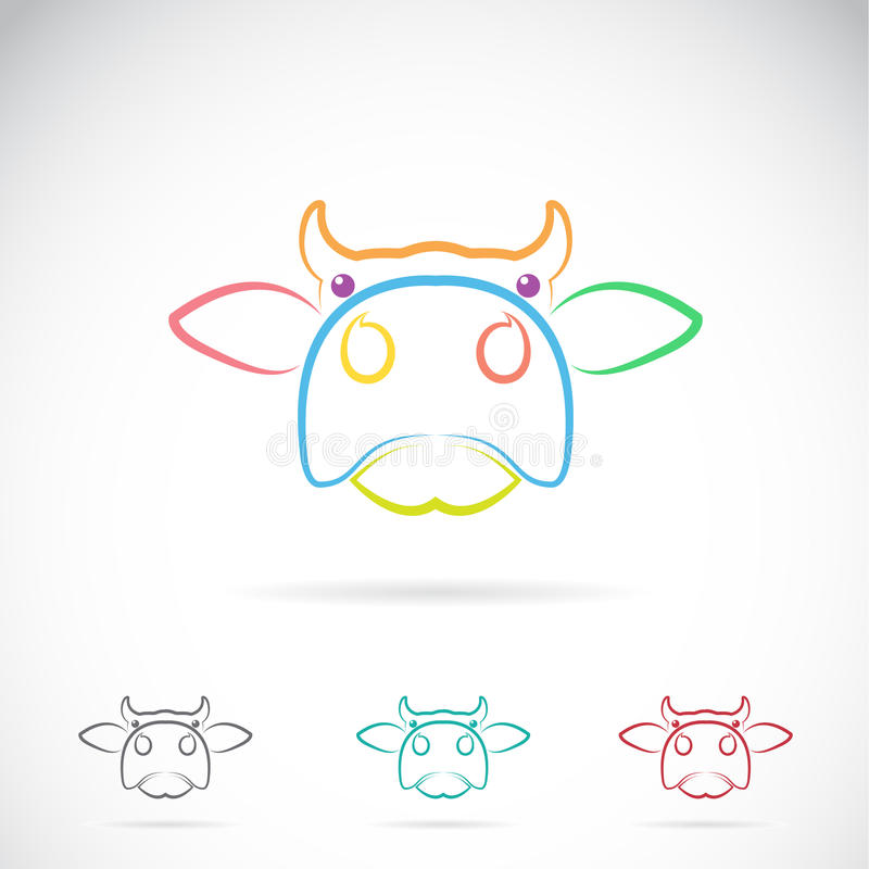 Vector image of an cow face stock illustration