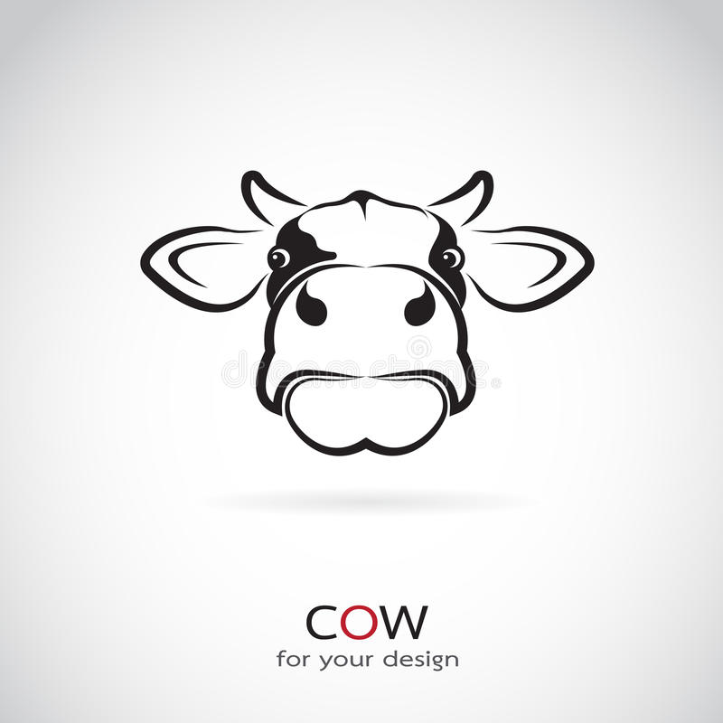 Vector image of an cow head royalty free illustration