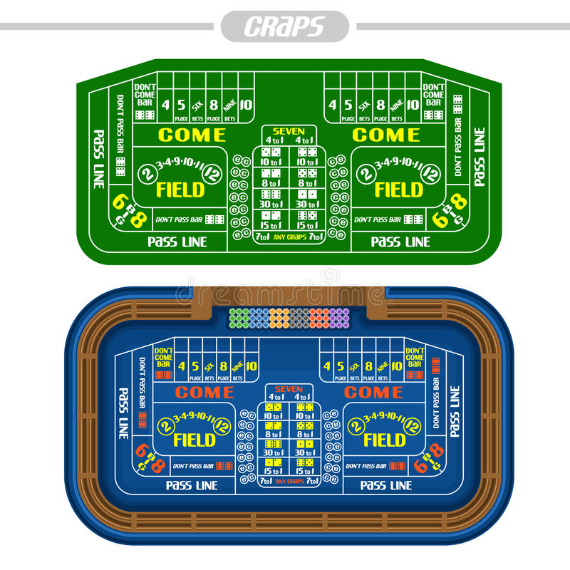Vector image of Craps Table stock illustration