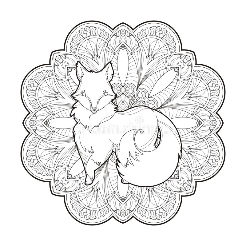 Vector image of a cute fox design isolated on a white background vector illustration