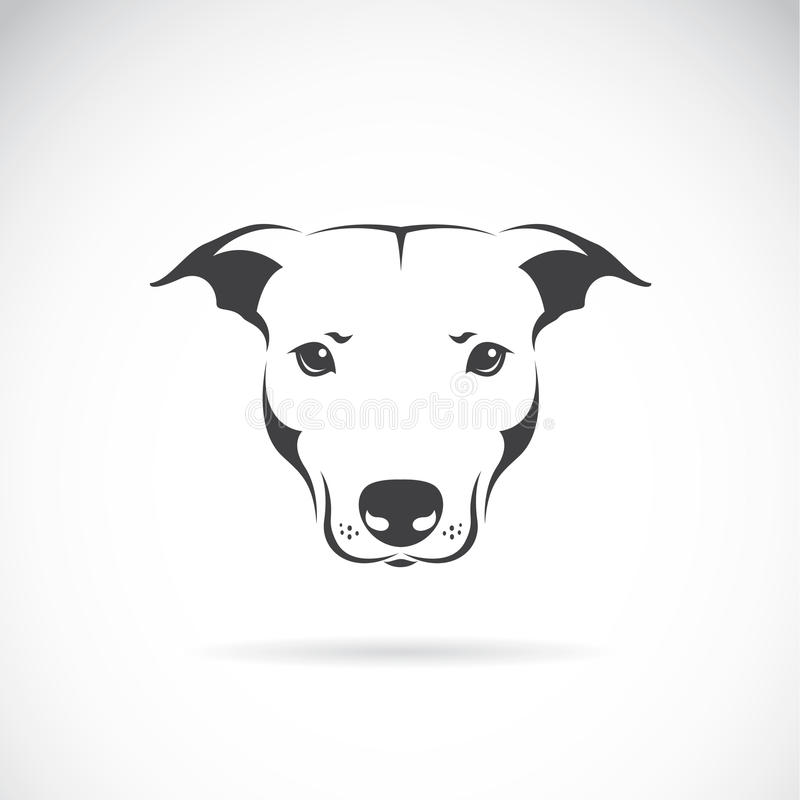 Vector image of a dog head. On white background