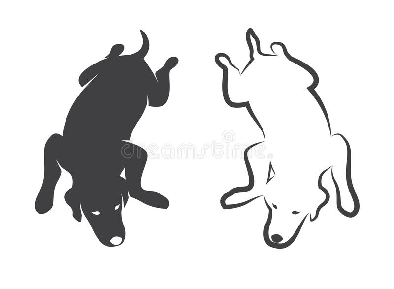 Vector image of an dog stock illustration