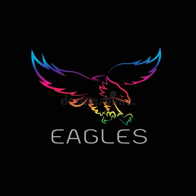 Vector image of an eagles design royalty free illustration