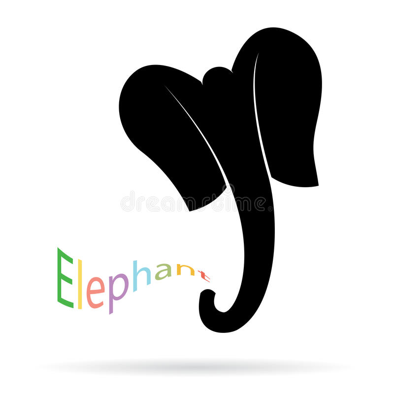 Vector image of an elephant. On a white background stock illustration