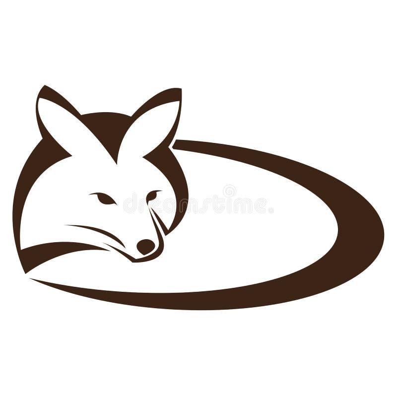 Vector image of an fox stock illustration