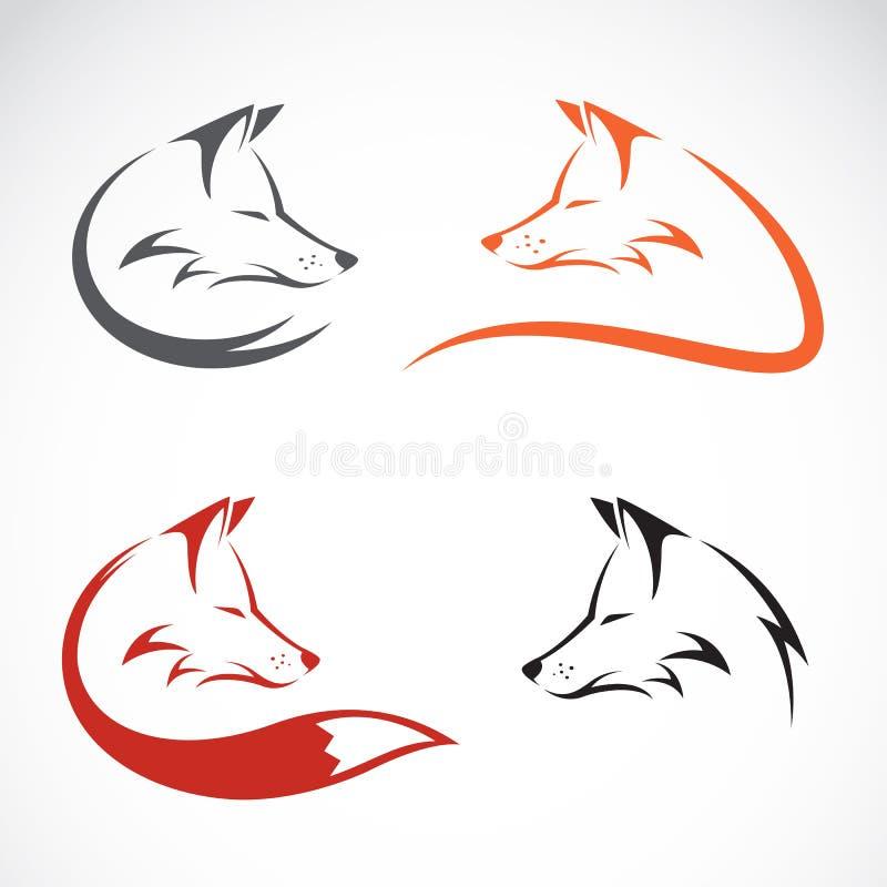 Vector image of an fox design stock illustration