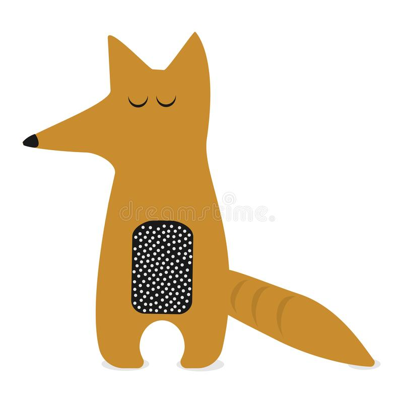 Vector image of a fox design on a white background, Wild Animals royalty free illustration
