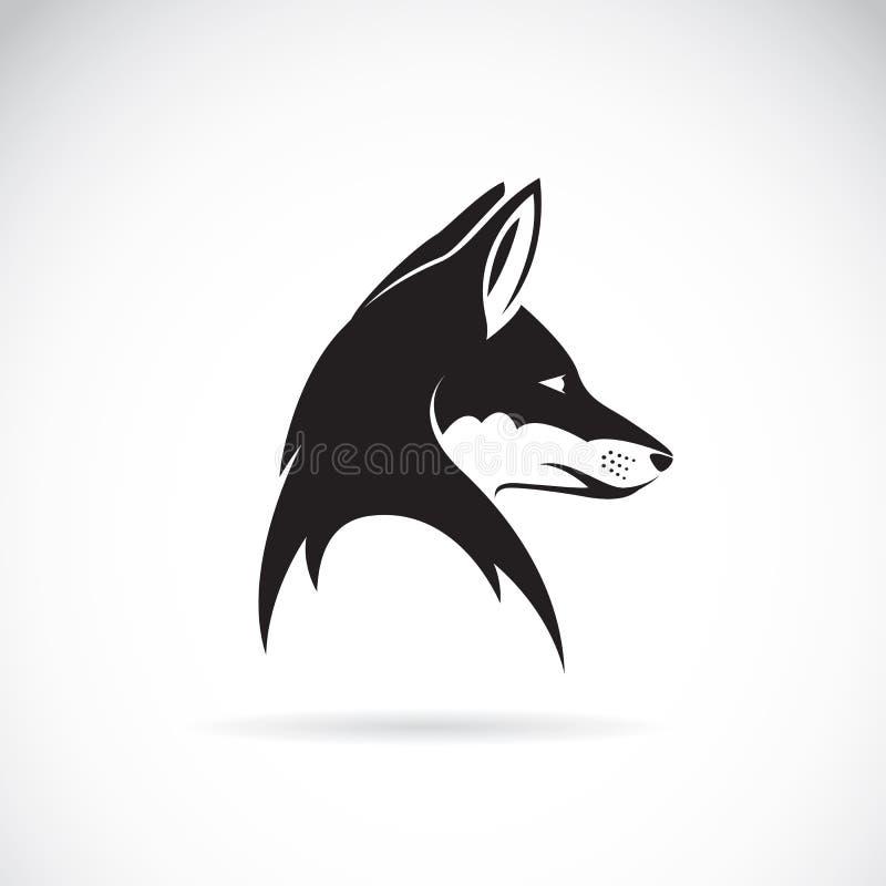 Vector image of an fox head vector illustration