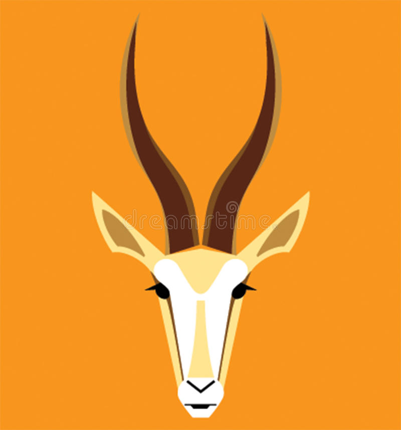 Vector image of an gazelle head vector illustration