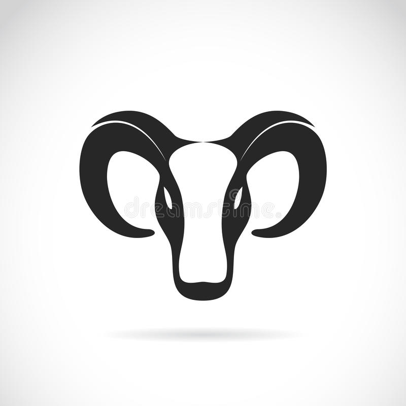 Vector image of an goat head stock illustration