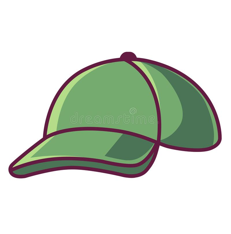 Image of a green cap stock illustration
