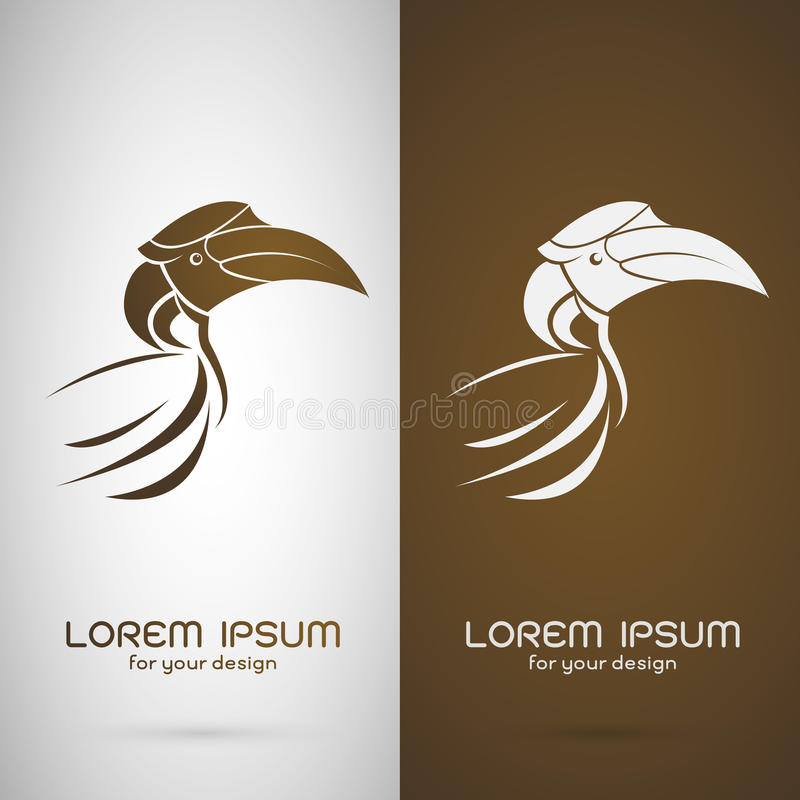Vector image of an hornbill design royalty free illustration