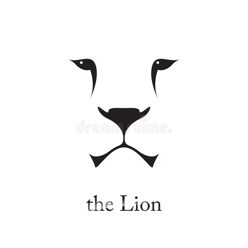 Vector image of an lion head on white background. royalty free illustration