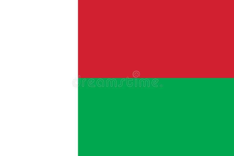 Vector image for Madagascar flag. Based on the official and exact Madagascar flag dimensions & colors. Vector image for Madagascar flag. Based on the official vector illustration