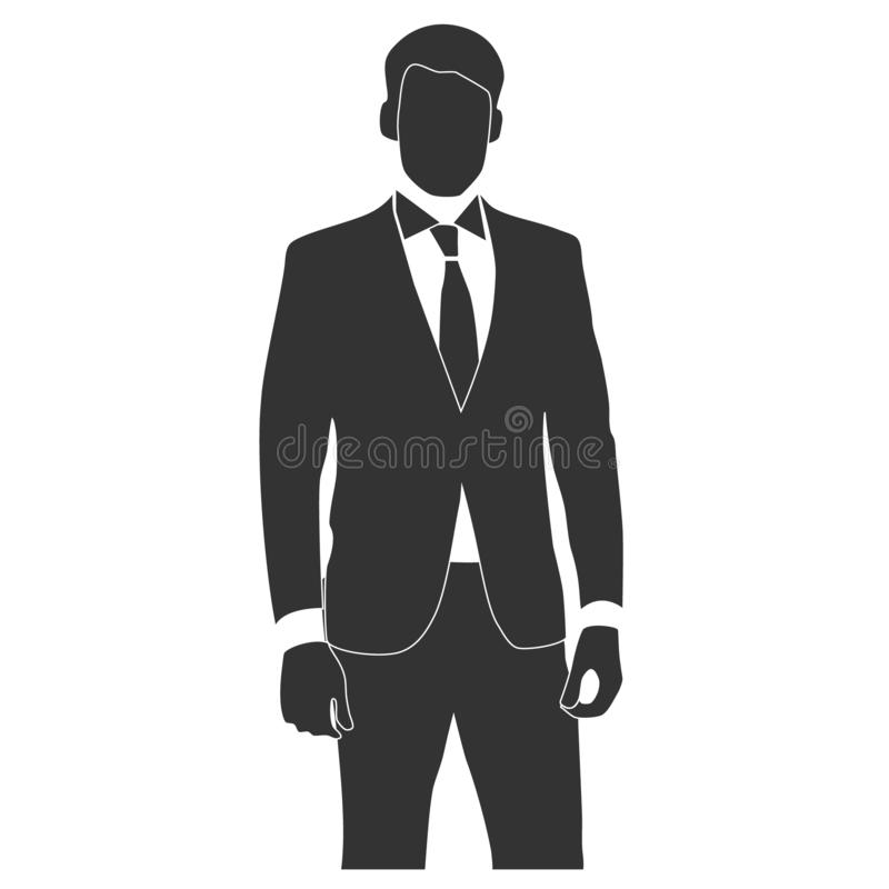 Vector image of manager man royalty free illustration