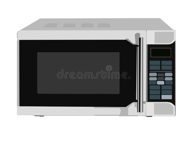 Vector image of the microwave oven vector illustration