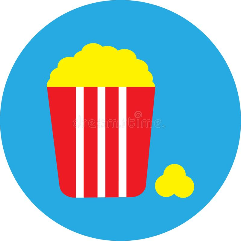 Vector image of minimalism. A great pack of popcorn, in a red package.  stock illustration