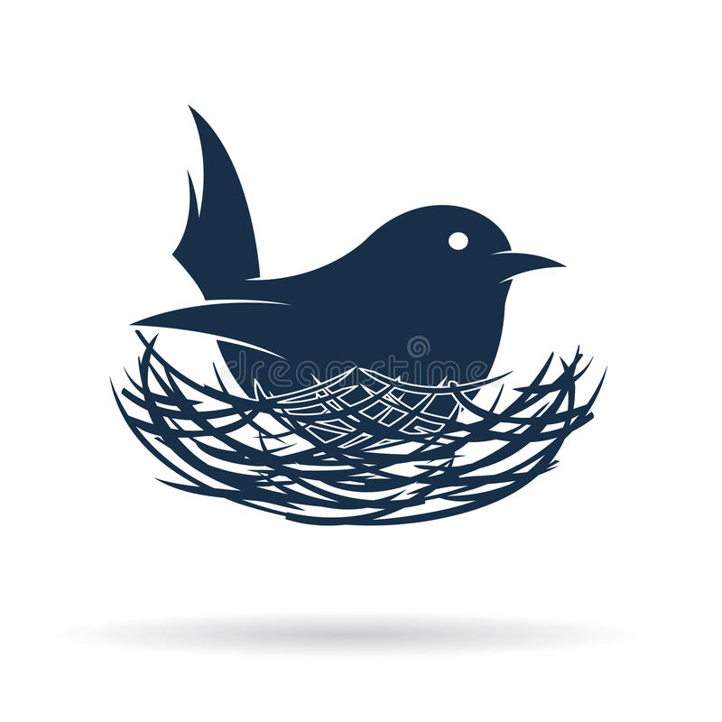 Free Vector Image Of An Bird Hatch Her Egg In Nest Royalty Free Stock Images - 57948379