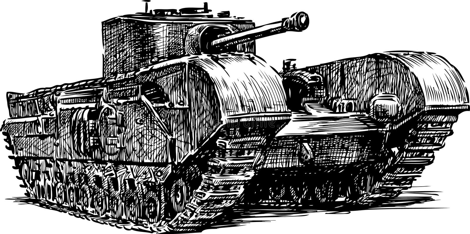 Download Ancient tank stock photo. Image of drawn, artillery, battalion - 29856216