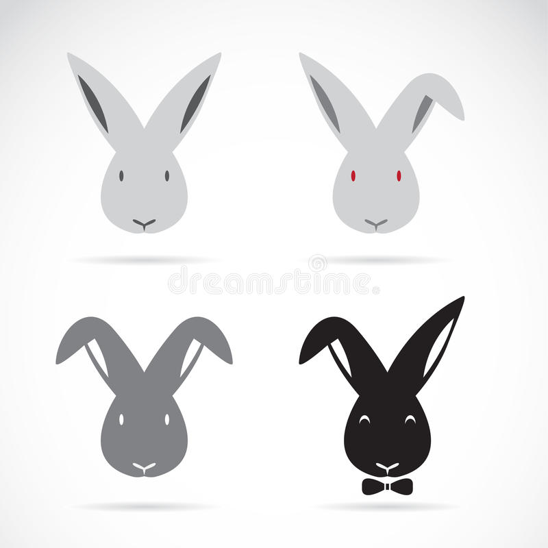Vector image of an rabbit. On white background royalty free illustration
