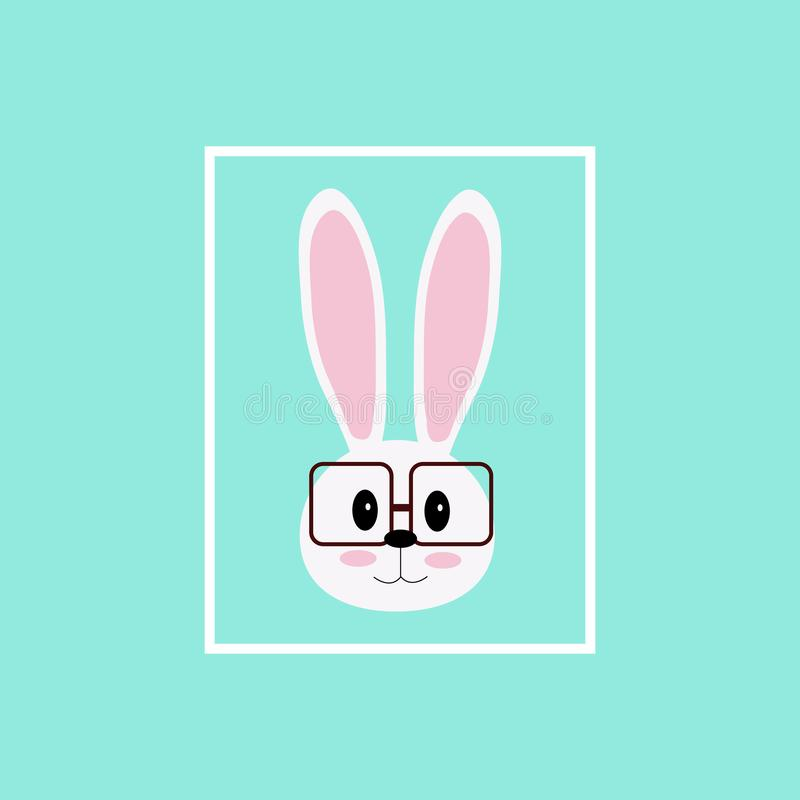 Vector image of a rabbits wear glasses. royalty free illustration