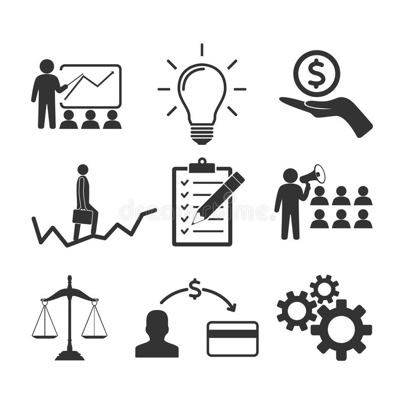 Vector image set of business icons. stock illustration