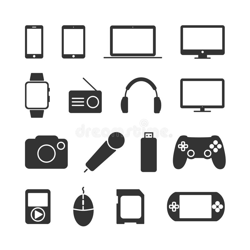 Vector image of a set device icons. royalty free illustration