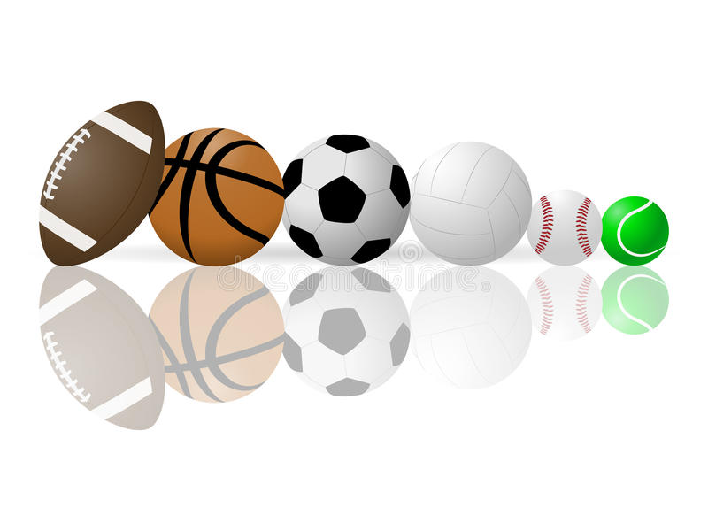 Vector image of sports balls. stock illustration